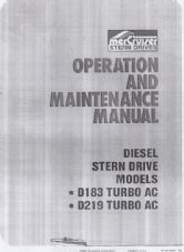 Mercruiser Operation and Maintenance Manual D183 AC and D219 TURBO AC